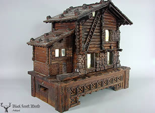 Black Forest carved wood Chalet