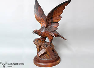 black forest carved eagle