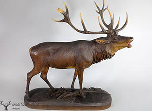 Black forest carved deer Stag