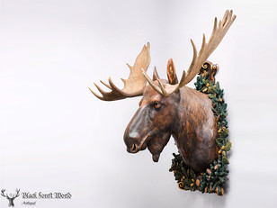 Adorable Moose Head Lifesize Deluxe