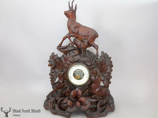 black forest carved chamois herd