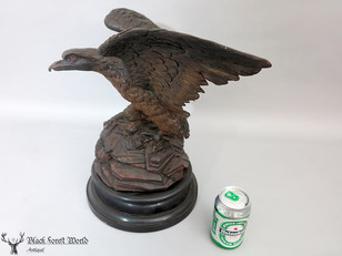 Carved Black forest Falcon