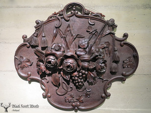 Awesome Black forest carved Plaque