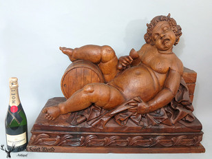 Xlarge wooden carved Bacchus