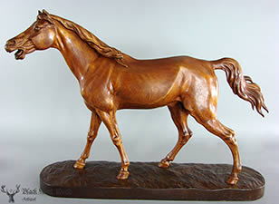 black forest carving horse