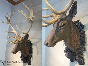 Carved Lifesize Stag deluxe