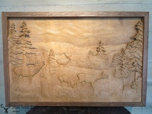 black forest carved plaque