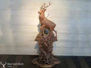 Black Forest carved Clock deluxe