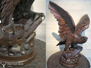 black forest carved eagle brienz
