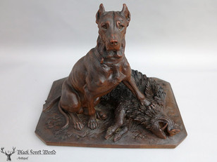 Awesome black forest carved dog