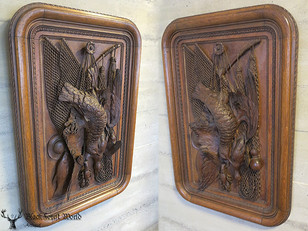 xlarge Black forest carved Plaque