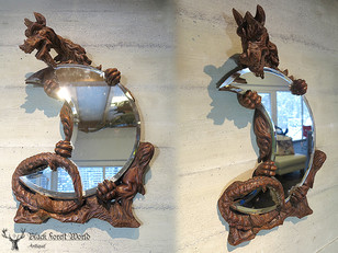 Black forest carved Mirror