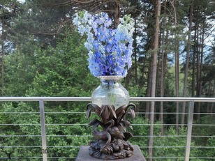 Black forest carved Flower Pot