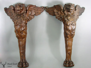 Black forest carved lions