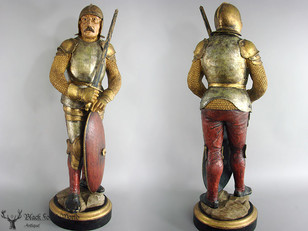 handcarved knight with byrnie
